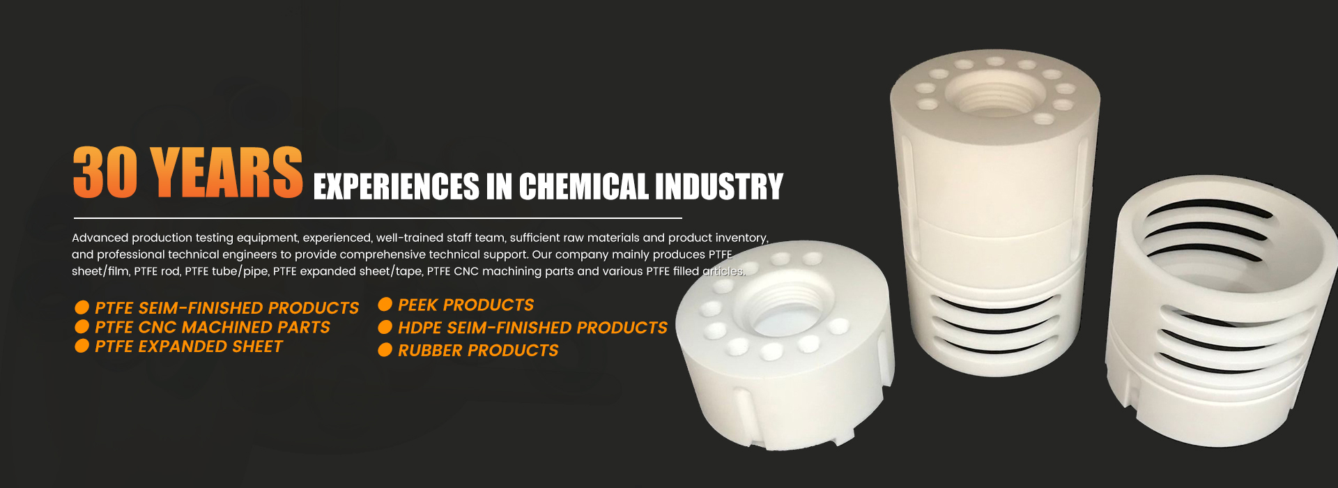 30 Years Experiences Chemical Industry Banner 0102